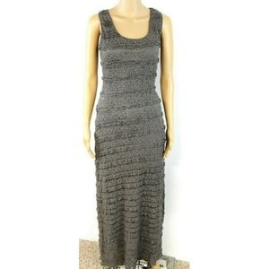 Max Studio Maxi Dress Gray Stretch